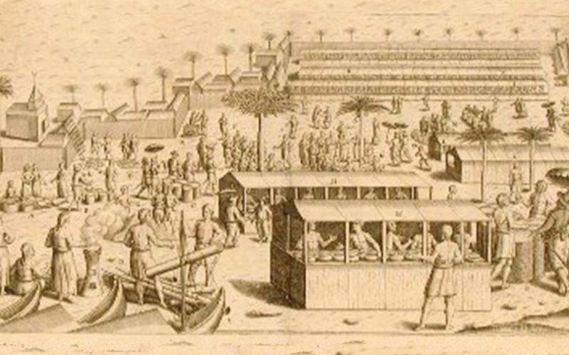 ilustrasi pelabuhan banten dulu kekunoan.com