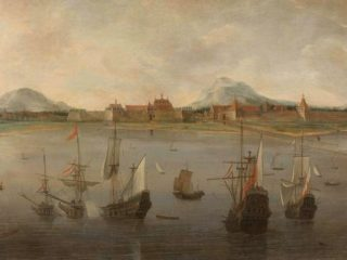 Pemandangan kota Batavia Hendrick Jacobsz Dubbels 1640 - 1676 kekunoan.com