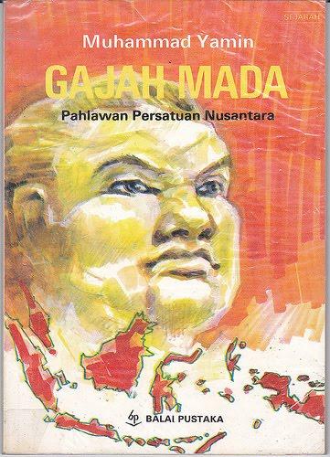 Ilustrasi Gajah Mada pada Sampul Buku Muhammad Yamin kekunoan.com